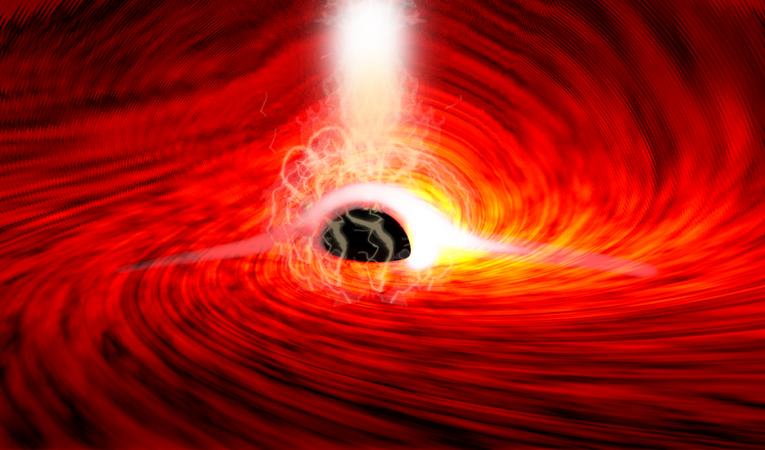 """观测到""""黑洞背后扭曲的光""""!爱因斯坦又被证明说对了"""