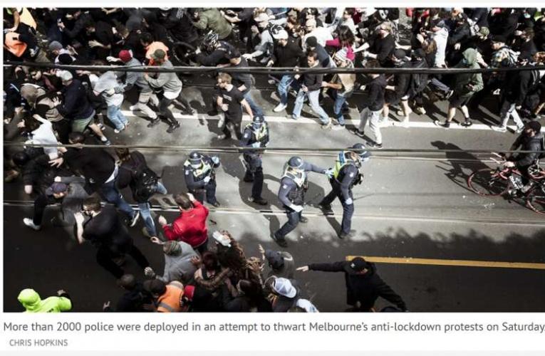 多名警察被打骨折!澳政府:游行抗议莫用自由做遮羞布